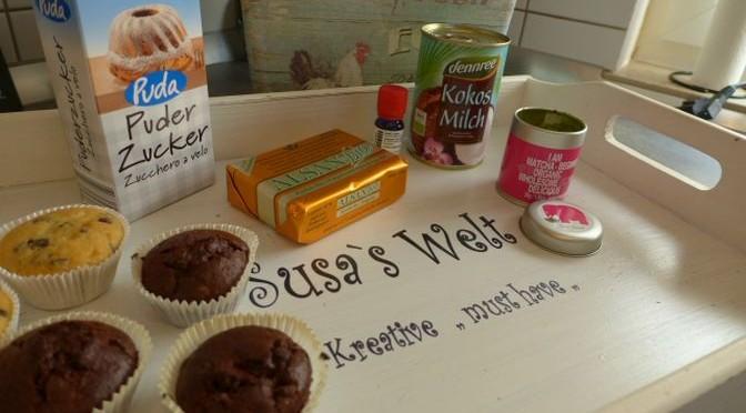 Veganisches Toopping ;  Pfefferminz Matcha Topping für Cupcake