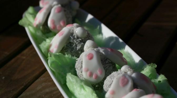 Bunny Cake Pops mit Fondant Pfötchen ; Hasen Cake Pops für den Osterbrunch