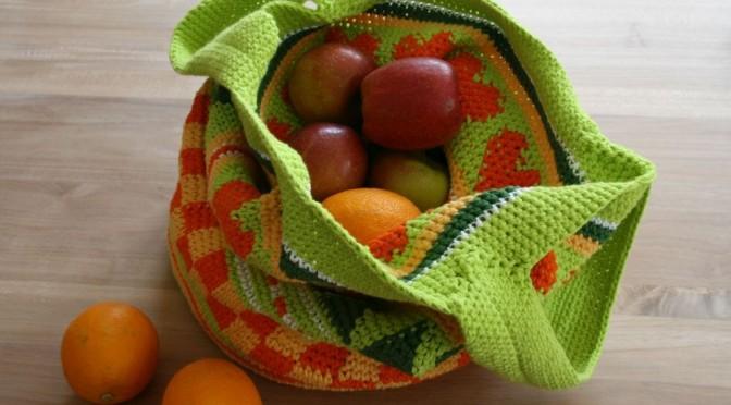 Tasche Crochetalong ! Mein gehäklter Einkaufsbeutel !