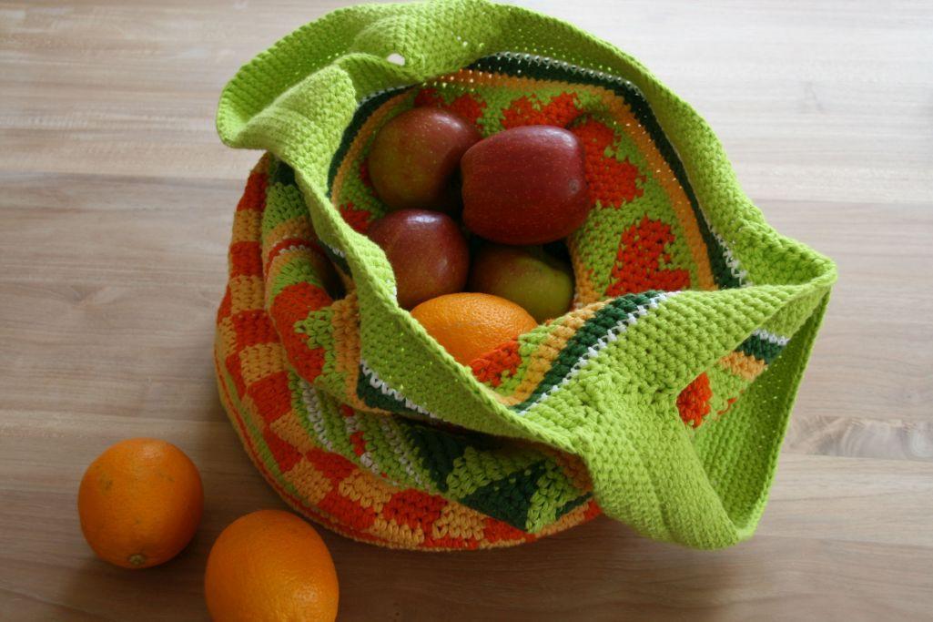 Tasche Crochetalong Mein Gehäklter Einkaufsbeutel Susas Weltde