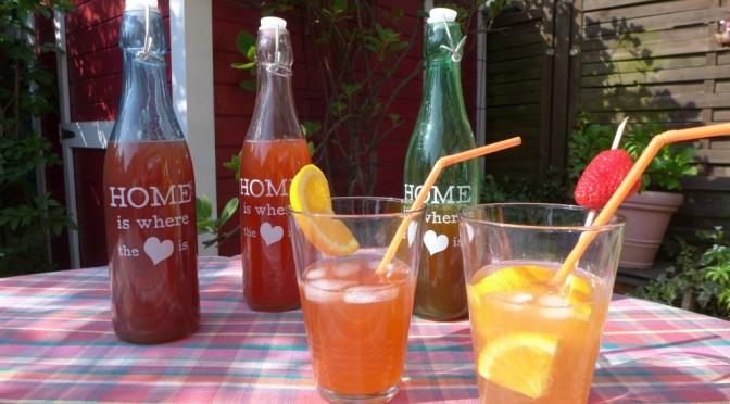 Rhabarber Orangen Sirup für Aperol Spritz und andere Sommercocktails