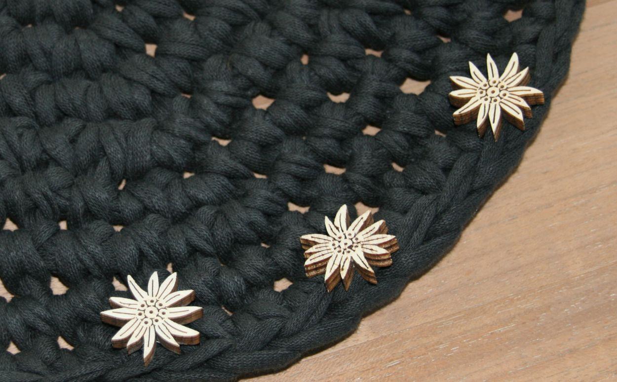 Tischset gehäkelt Textilgarn
