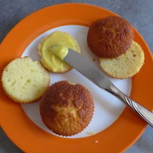 Muffins Cupcakes Lemin Zitrone Curd Füllung Muffins