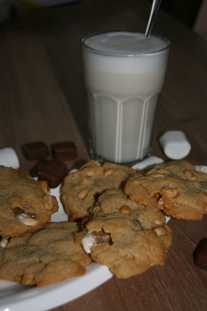 Marshmallows Schokoladen Erdnussbutter Coockies