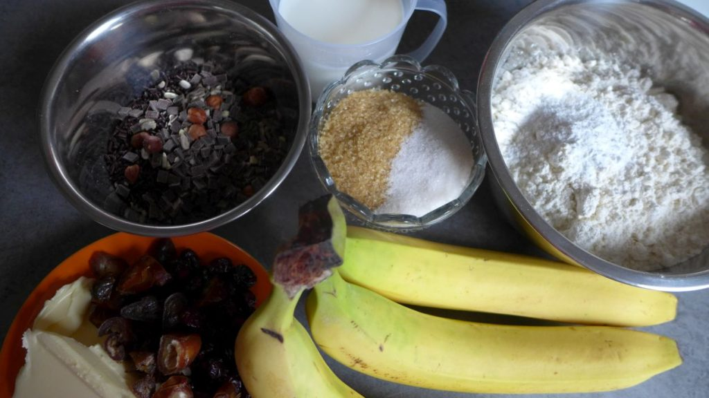 Bananenbrot Bananenkuchen Müslibrot Müslikuchen Powerbrot