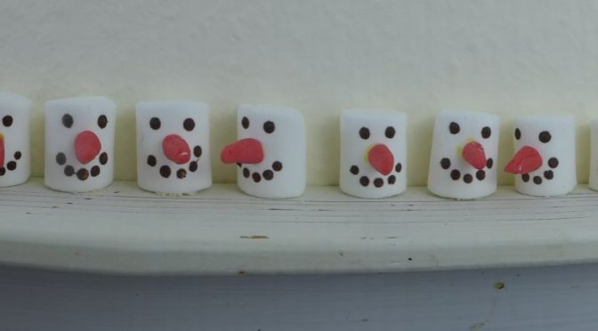 Olaf…. der Schneemann aus Marshmallows
