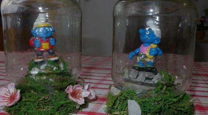 Kleine Welt im Glas