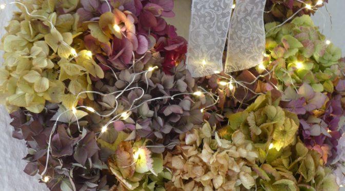 Herbstkranz aus Hortensien