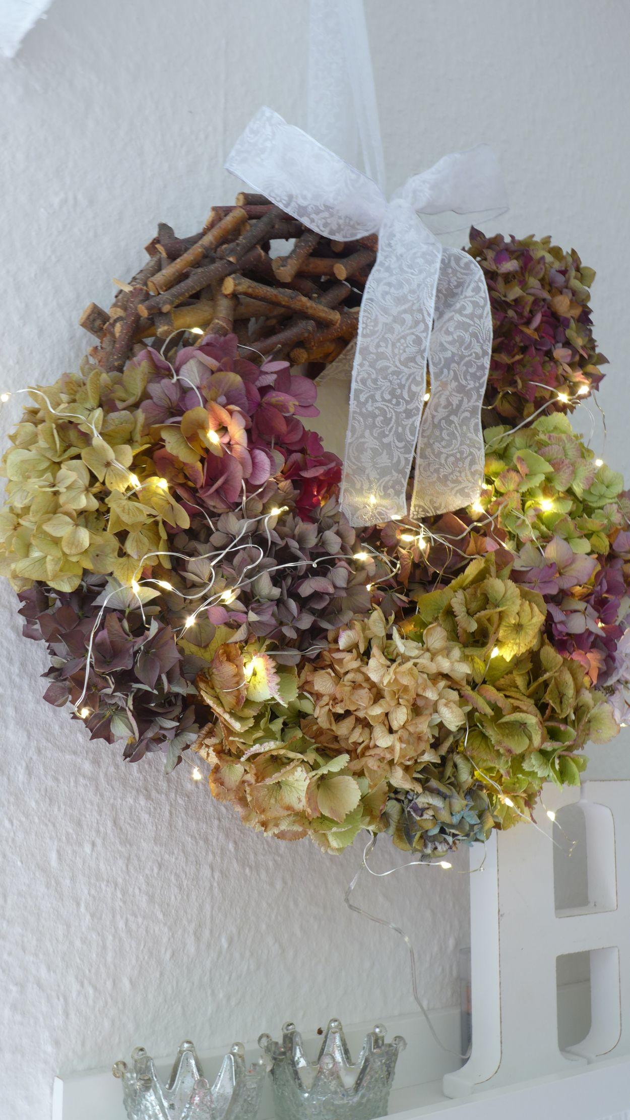 Häufig Herbstkranz aus Hortensien | susas-welt.de QY61