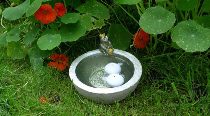 Der Froschkönig : Vogeltränke aus Beton